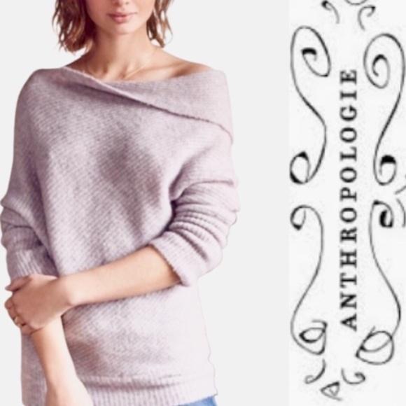 MOTH Anthropologie Lavender Asymmetrical Sweater S